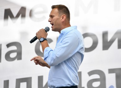 Navalny at a rally in July 2019.