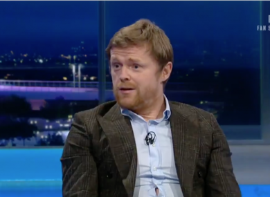 Damien Duff speaking on RTE about his exit from the Irish camp.