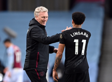 David Moyes and the rejuvenated Jesse Lingard.