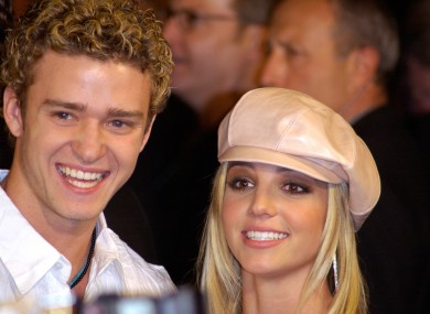 Spears and Timberlake pictured in 2002.
