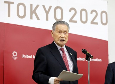 File photo. Tokyo organising committee president Mori Yoshiro.