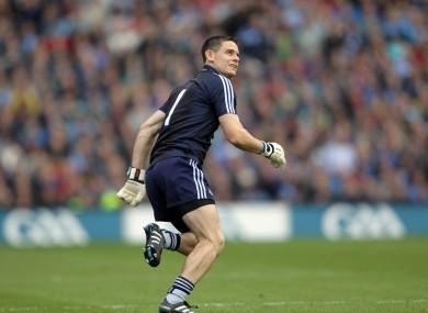 Cluxton heads back to his goal having kicked the winning score in the 2011 All-Ireland final.