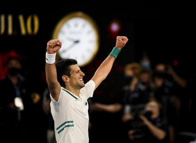 Djokovic clinched his 18th grand slam with a straight-sets win.