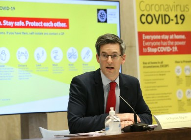 The deputy CMO Dr Ronan Glynn at a media briefing earlier this week.