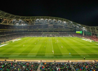 The Aviva Stadium could be used as a potential venue.