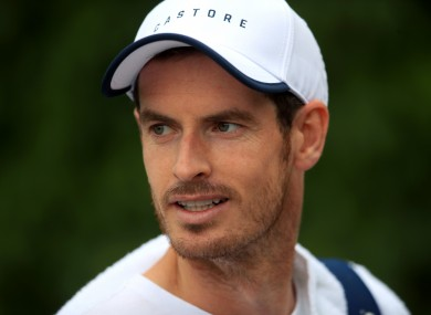 Andy Murray (file pic).