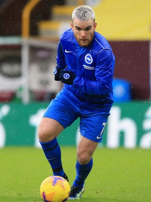 Aaron Connolly of Brighton & Hove Albion.