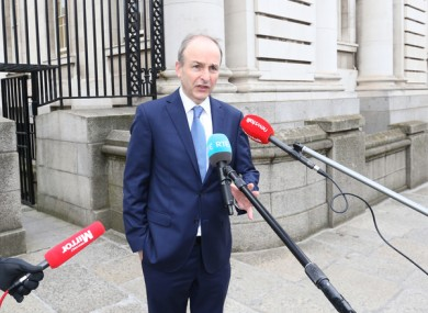 The Taoiseach pictured ahead of last week's Cabinet meeting.