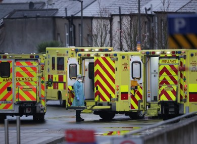 File photo from January 2021 of ambulances outside the Mater Hospital in Dublin.