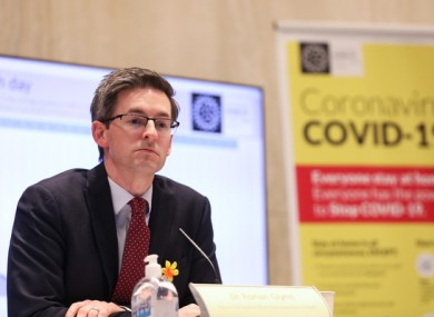 Deputy CMO Dr Ronan Glynn at a press briefing last week.
