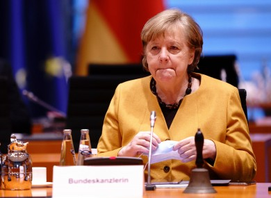 German Chancellor Angela Merkel attends the weekly cabinet meeting of the German government at the chancellery in Berlin.
