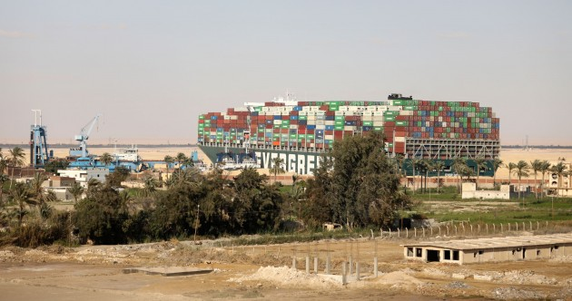 Clearing Suez Canal backlog likely to take until end of week after massive container ship refloated
