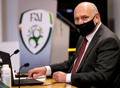 File photo of FAI President Gerry McAnaney.