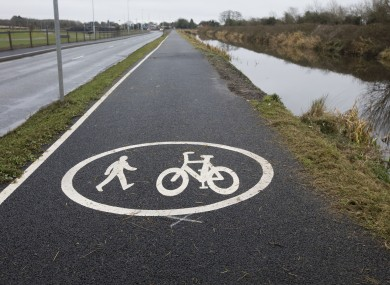A section of the Royal Canal Greenway in Kildare