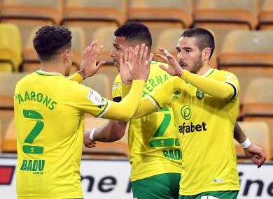 Emiu Buendia celebrates his crucial goal.