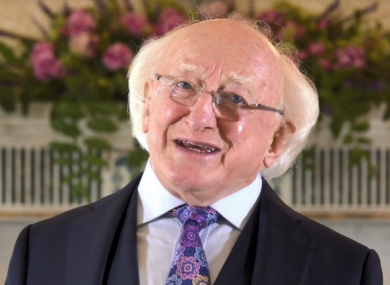 President Michael D Higgins is in his tenth year as Head of State.