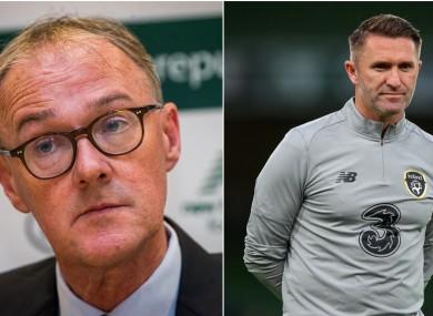 Roy Barrett (left) and Robbie Keane.