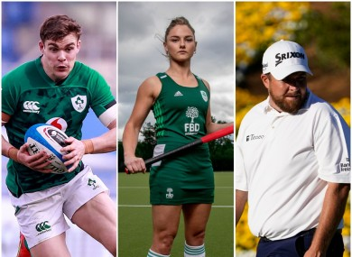 Irish sporting interest in rugby, hockey and golf this weekend.
