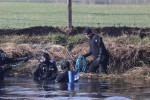 Divers at Ardreigh Lock outside Athy, Co Kildare as the search continues for the missing man.