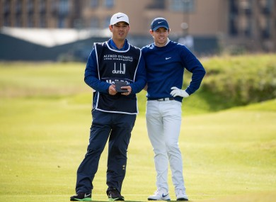 Rory McIlroy with his caddie Harry Diamond.