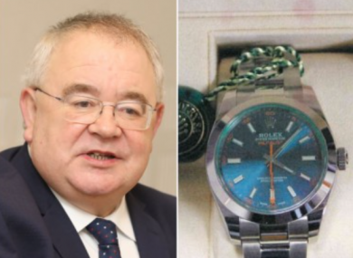 Ceann Comhairle Seán Ó Fearghaíl and the watch in question