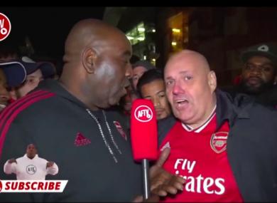 Claude Callegari (right) was a regular on Arsenal Fan TV.