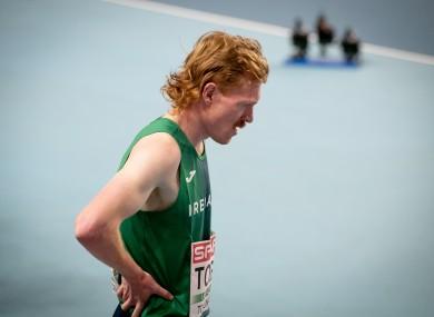 Sean Tobin after the 3000m final.