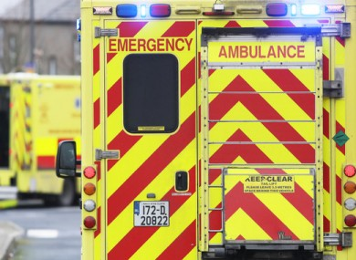 File image of an ambulance outside the Mater Hospital, Dublin in February.