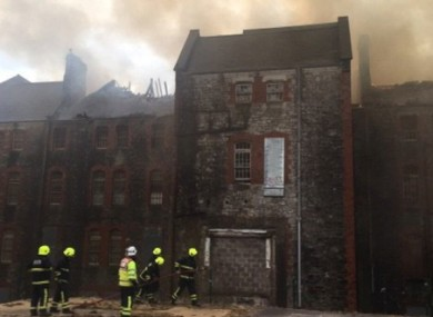 St Kevin's Hospital after a fire gutted the building in 2017
