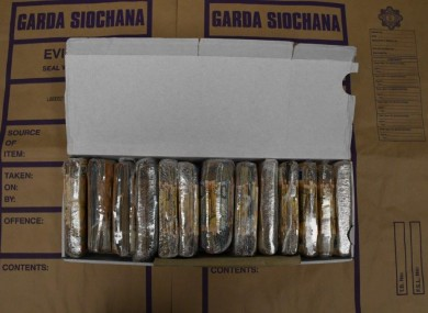 An image of the seizure shared by gardaí.