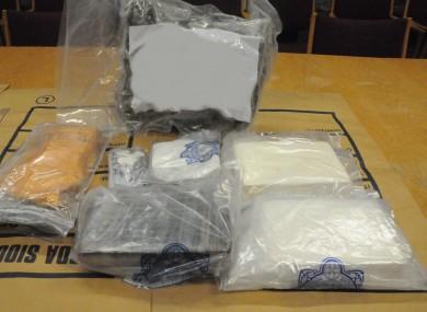 The drugs seized in Clondalkin last week.