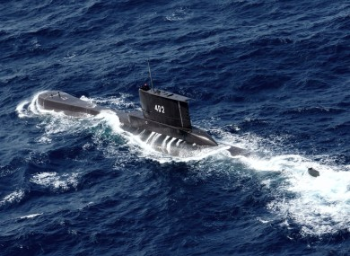 Indonesia's navy is searching for the submarine that went missing north of the resort island of Bali.