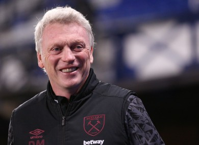 West Ham boss David Moyes.