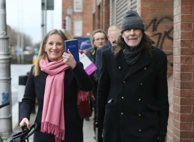 Gemma O'Doherty and John Waters