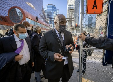 Rodney Floyd, the brother of George Floyd, entering the Hennepin County Government Center for the ongoing trial in the US today.