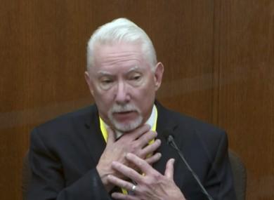 Barry Brodd testifies in court