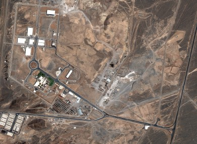 A satellite view of the Iranian nuclear plant