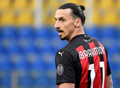 Staying put: Zlatan Ibrahimovic.