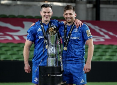 Johnny Sexton and Ross Byrne.