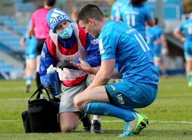 Sexton suffered a head injury against Exeter.