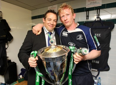 Jono Gibbes and Leo Cullen in 2009.
