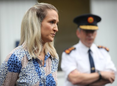A file photo of Minister Helen McEntee and Garda Commissioner Drew Harris.