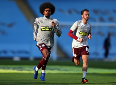 Leicester City's Hamza Choudhury (left) and James Maddison.