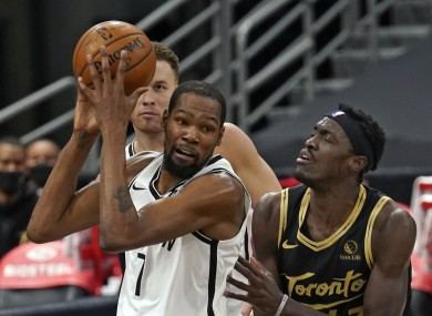 Kevin Durant in action for the Brooklyn Nets.