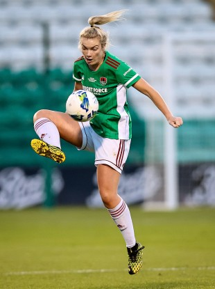 Saoirse Noonan on the ball for Cork City last year (file pic).
