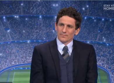 Keith Andrews speaking on Virgin Media Sport.