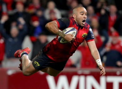 Zebo is Munster's record top try-scorer