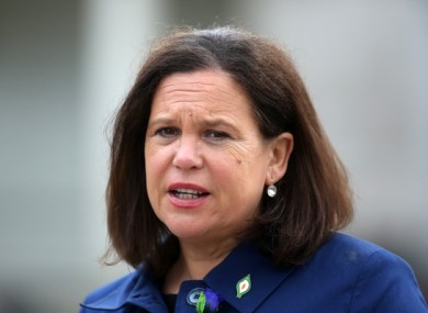 Sinn Féin leader Mary Lou McDonald.