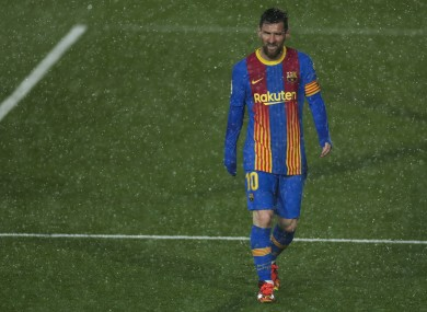 Barcelona's Lionel Messi in what might be his last Clasico.