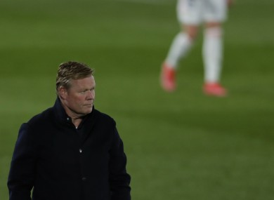 Ronald Koeman pictured during last night's El Clasico.